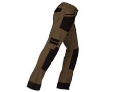 KAPRIOL, ACTIVE CASTORO/NERO Pantalone elasticizzato slim
