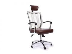 Sedia ufficio ad altezza regolabile in ecopelle a 5 razze con ruoteACTIVE | Sedia ufficio in ecopelle - ARREDIORG