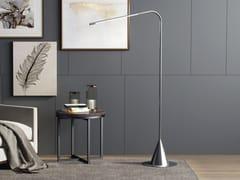 Lampada da terra a LED in ottone con braccio flessibileACUS - BETEC LICHT