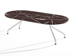 Tavolino ovale in marmo con gambe in metalloAD.DA | Tavolino basso - B-LINE
