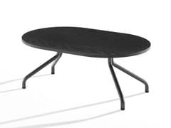 Tavolino ovale in legno con gambe in metalloAD.DA | Tavolino ovale - B-LINE