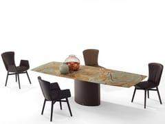 Tavolo allungabile da pranzo rettangolare in pietra naturale ADLER II MAGNUM | Tavolo in pietra naturale -