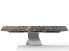 Tavolo allungabile da pranzo rettangolare in pietra ADLER II | Tavolo in pietra -