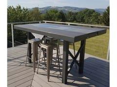 Tavolo alto in Dekton® con piastra riscaldanteAGATHE | Tavolo alto - AUREHUM