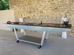 Cucina da esterno elettrica in Dekton®AGATHE STAND ALONE - AUREHUM