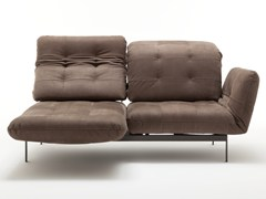 Divano capitonné in pelle con chaise longue AGIO | Divano capitonné - Agio