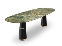 Tavolo da pranzo ovale con piano in marmoAGRA III   Tavolo ovale - BRABBU DESIGN FORCES