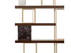 Libreria a parete bifacciale in legno, marmo e metalloAIDA | Libreria - BELLANI