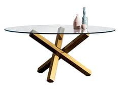 Tavolo rotondo in vetro AIKIDO ROUND - Aikido