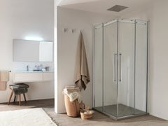 INDA®, AIR - 1 Box doccia in vetro con porta scorrevole