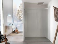 INDA®, AIR - 3 Box doccia a nicchia in vetro con porta scorrevole