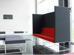 Divano modulare in tessuto con schienale altoAIR   Divano con schienale alto - METALÚRGICA DO LEVIRA