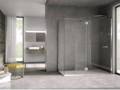 Box doccia con un lato fisso con paratia mobile AIR AIR1LP - Air