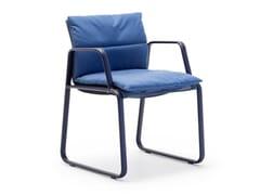 Sedia da giardino in acciaio con braccioliAIRE OUTDOOR SO1280 - ANDREU WORLD