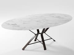 Tavolo in lama di ferro pieno e piano in HPLAIX | Tavolo in laminato - BAREL