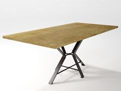 Tavolo in legno impiallacciato e lama di ferroAIX | Tavolo in legno impiallacciato - BAREL