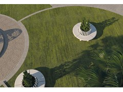Panchina circolare con fioriera integrataAKELARRE - ULMA ARCHITECTURAL SOLUTIONS