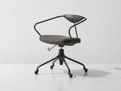 Sedia su trespolo in pelle ad altezza regolabile con ruoteAKRON | Sedia ufficio - DISTRICT EIGHT DESIGN CO.