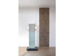 Porta a battente in gres porcellanato effetto marmoALADIN DUO SWING PLAIN - GLAS ITALIA