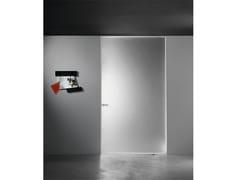 Glas Italia, ALADIN PIVOT PLAIN MONO Porta a bilico a filo muro in vetro