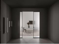 Porta scorrevole a scomparsa in vetroALADIN POCKET DUO - GLAS ITALIA