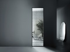 Glas Italia, ALADIN SWING PLAIN MONO Porta a battente a filo muro in vetro