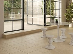 Pavimento in gres porcellanato effetto pietraALBAROC - EXAGRES