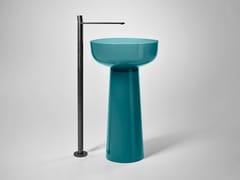 Lavabo freestanding rotondo in Cristalmood® ALBUME BOLO -