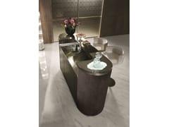 Mobile bar in pelle con vaschetta e rubinetteriaALEXANDER - LONGHI