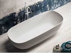 Blu Bleu, ALEXIA Vasca da bagno centro stanza ovale in Solid Surface