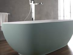 Blu Bleu, ALEXIA COLOR Vasca da bagno centro stanza ovale in Solid Surface