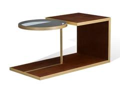 Tavolino in legno con inserto in vetroALFRED W | Tavolino - BELLANI