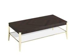 Tavolino basso rettangolare in legno da salotto ALIAS R -
