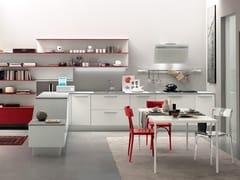 Cucina laccata lineare con penisola ALICANTE HYBRID & CASUAL -