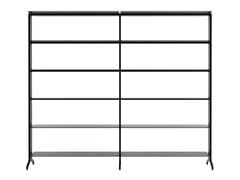 Libreria a giorno modulare in alluminioALINE - J01 - ALIAS