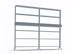 Libreria a giorno modulare in alluminio ALINE - J03 - Aline