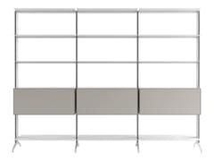 Libreria a giorno modulare in alluminioALINE - J04 - ALIAS