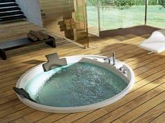Vasca da bagno a 2 posti idromassaggio rotondaALISE' - BLUBLEU