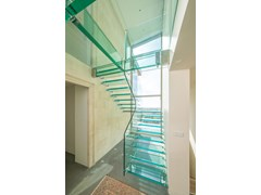 Scala a giorno in vetro ALL GLASS STAIRS MISTRAL - SILLER TREPPEN
