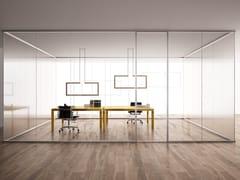 Parete mobile scorrevole in vetro per ufficioALL WAYS | Parete mobile scorrevole - ALBED