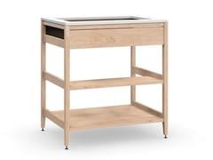 Modulo cucina freestanding in legno masselloALL WOOD RADIX | Mobile lavandino - COQUO