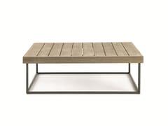 Tavolino da caffè quadrato in teak ALLAPERTO MOUNTAIN ETWICK | Tavolino rettangolare - Allaperto