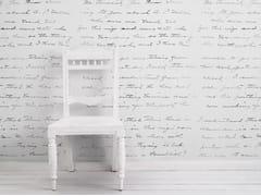 Mineheart, ALMOST WHITE CONCRETE LOVELETTER Carta da parati in vinile con scritte