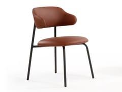 Sedia imbottita in pelle con braccioliALOA | Sedia con braccioli - ARTIFORT