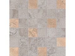Mosaico quadrato ALPES RAW MOSAICO QUADRATO GLAM Grey - ABK GROUP INDUSTRIE CERAMICHE
