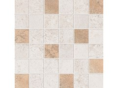 Mosaico quadrato ALPES RAW MOSAICO QUADRATO GLAM Ivory - ABK GROUP INDUSTRIE CERAMICHE