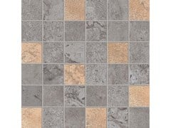 Mosaico quadrato ALPES RAW MOSAICO QUADRATO GLAM Lead - ABK GROUP INDUSTRIE CERAMICHE