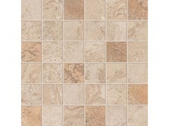 Mosaico quadrato ALPES RAW MOSAICO QUADRATO GLAM Sand - ABK GROUP INDUSTRIE CERAMICHE