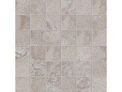 Mosaico quadrato ALPES RAW MOSAICO QUADRATO Grey - ABK GROUP INDUSTRIE CERAMICHE