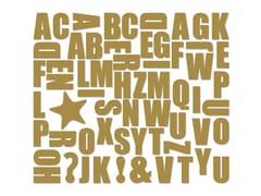 Magnete ALPHABET GOLD - Alphabet